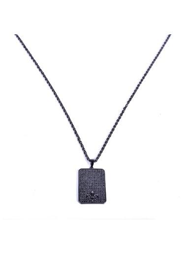 Janti  Janti Kolye Zirkon Taşlı Çelik Tablet Renkli